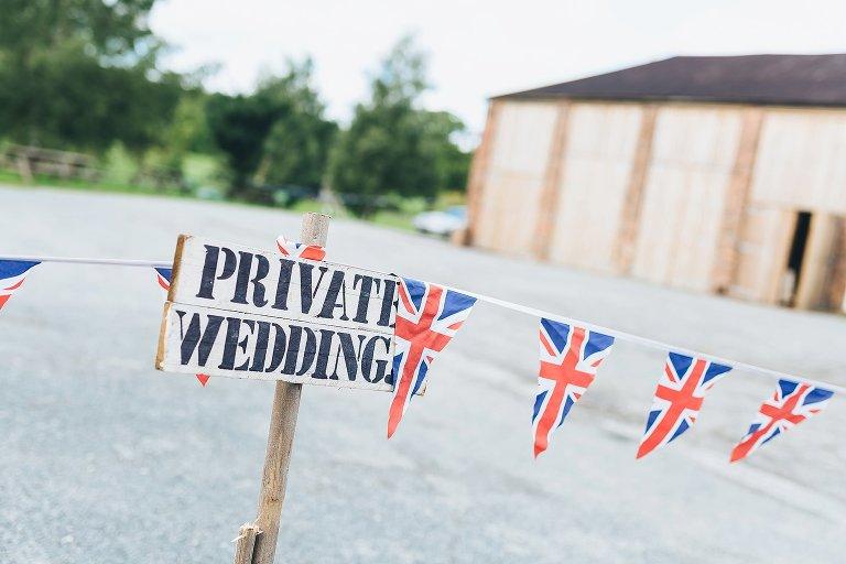 Camp Katur Wedding sign