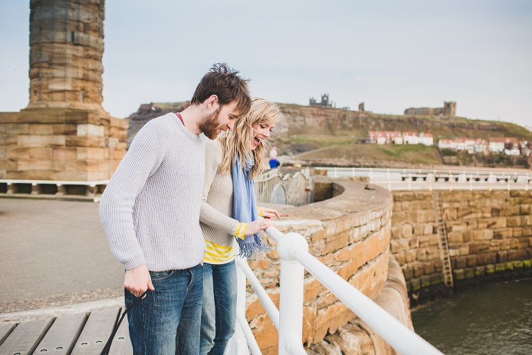 Man and woman in Whitby