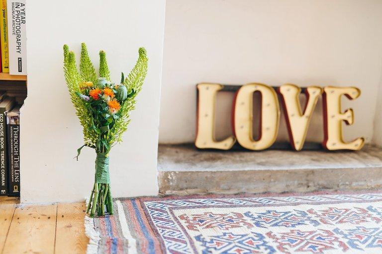 Rustic DIY handmade flowers