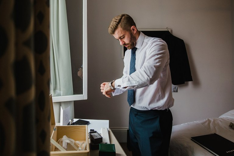 Natural groom portrait